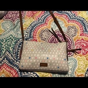Fossil crossbody purse with hearts